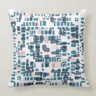 Teal and pink beads throw pillow