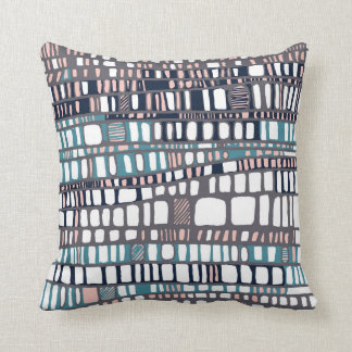 Teal and pink layers cushion