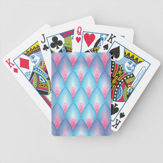 Teal And Pink Petal Pattern Bicycle Playing Cards