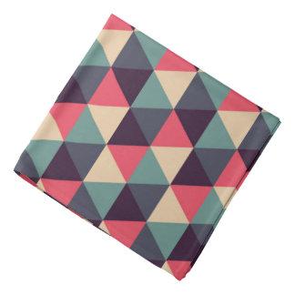 Teal And Pink Triangle Pattern Bandana