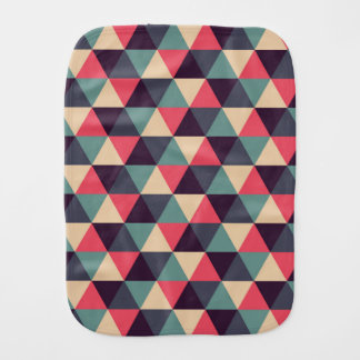 Teal And Pink Triangle Pattern Burp Cloth