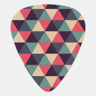 Teal And Pink Triangle Pattern Guitar Pick