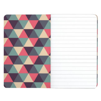 Teal And Pink Triangle Pattern Journal