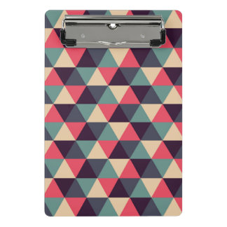 Teal And Pink Triangle Pattern Mini Clipboard