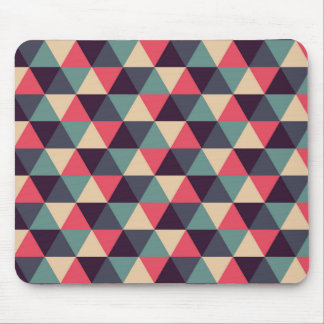 Teal And Pink Triangle Pattern Mouse Mat