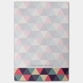 Teal And Pink Triangle Pattern Post-it Notes