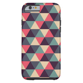 Teal And Pink Triangle Pattern Tough iPhone 6 Case