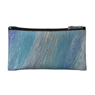 Teal and Purple Abstract Cosmetic Bag