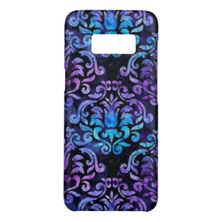 Teal and purple Damask on Samsung Galaxy S8 case