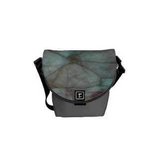 Teal and Purple Fluorite Marble Courier Bags