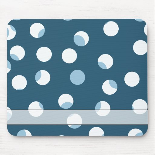 Teal and white dot pattern. Green - blue. Mousepads