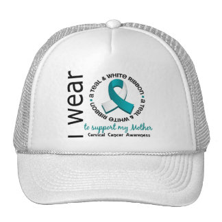 Teal And White For My Mother 17 Cervical Cancer Trucker Hat