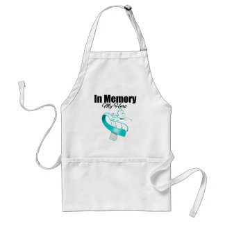 Teal and White In Memory of My Hero Standard Apron