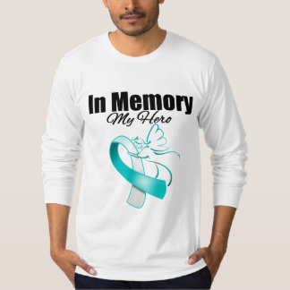 Teal and White In Memory of My Hero T-shirts