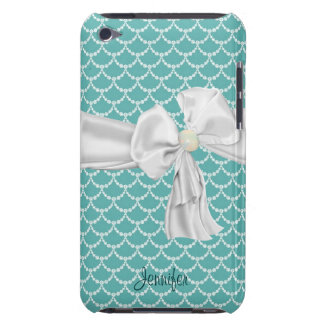 Teal and White iPod Touch Case