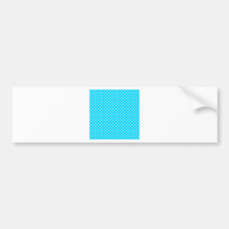Teal and White Polka Dots Bumper Stickers