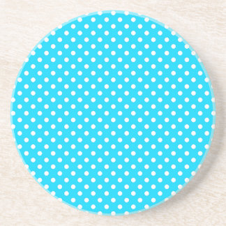 Teal and White Polka Dots Coaster