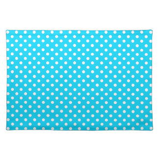 Teal and White Polka Dots Placemats