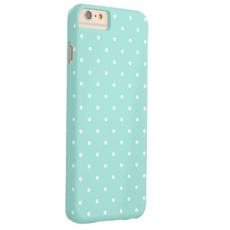 Teal and White Small Polka Dots Pattern Girly Barely There iPhone 6 Plus Case