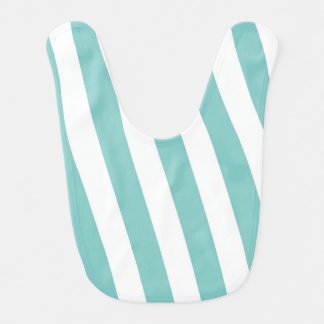 Teal and White Stripes Bib