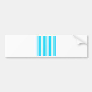 Teal and White Stripes Bumper Sticker