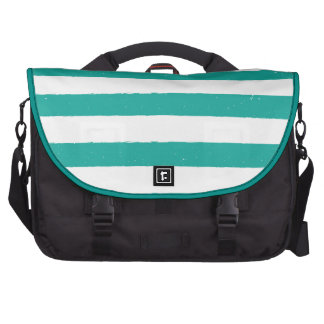 Teal and White Stripes Commuter Bags