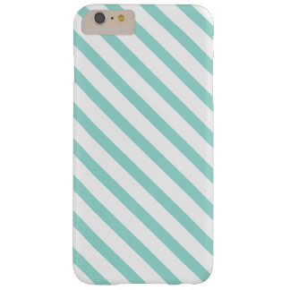 Teal and White Stripes Pattern Barely There iPhone 6 Plus Case