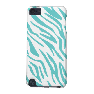 Teal and White Zebra Print iPod Touch Case