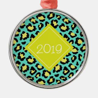 Teal Animal Print Christmas Ornament