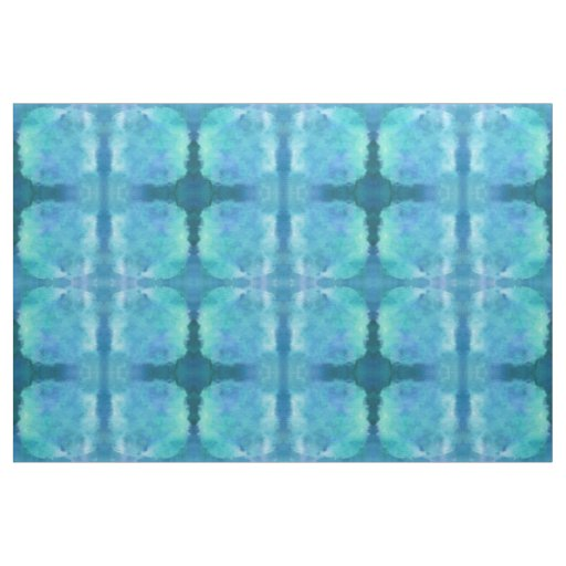 The Texture Of Teal And Turquoise: Teal Aqua Blue Teal Watercolor Texture Pattern Fabric