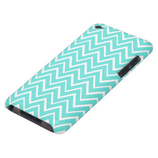 Teal aqua whimsical zigzag chevron pattern case