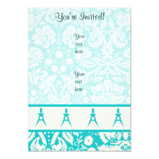 Teal Architect 5x7 Paper Invitation Card