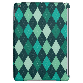 Teal argyle pattern iPad air cover