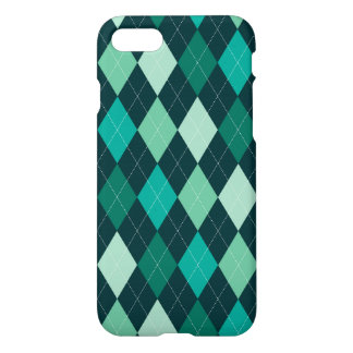 Teal argyle pattern iPhone 8/7 case