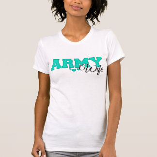 Teal Army Wife T-Shirt