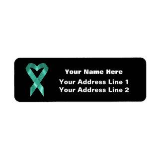 Teal Awareness Ribbon (customizable)