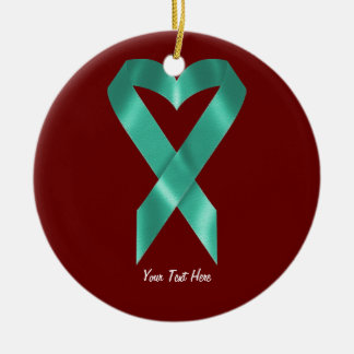 Teal Awareness Ribbon (customizable) Christmas Ornament