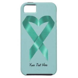 Teal Awareness Ribbon (customizable) iPhone 5 Cases