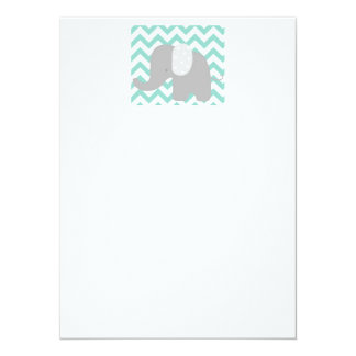 Teal Baby Elephant Shower Card