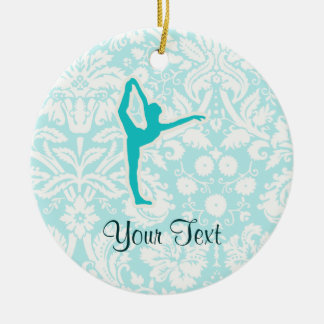 Teal Ballet Christmas Ornament