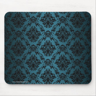 Teal Baroque Gothic Victorian Patten Mousepad