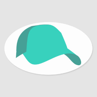 Teal baseball cap stickers