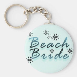 Teal Beach Bride Tshirts and Gifts Key Chains