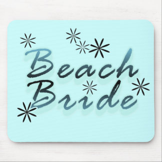 Teal Beach Bride Tshirts and Gifts Mousepad