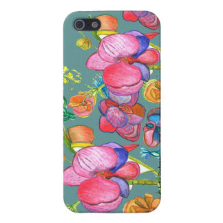 Teal Beauty Asian Design IPhone5 Cover For iPhone 5/5S