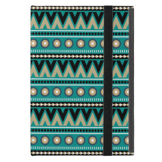 Teal Black Gold Aztec Modern Powis iPad Mini Case