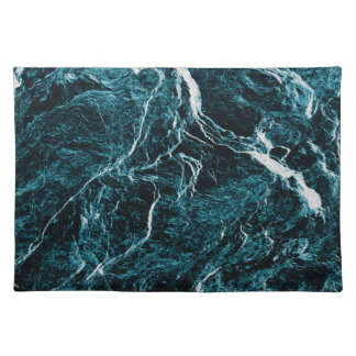 Teal Blue Abstract Pattern Placemat