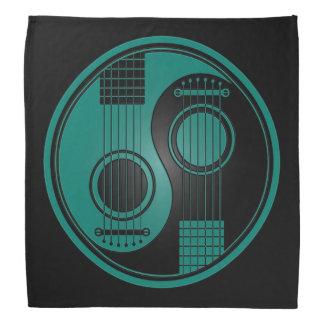 Teal Blue Acoustic Guitars Yin Yang Bandana