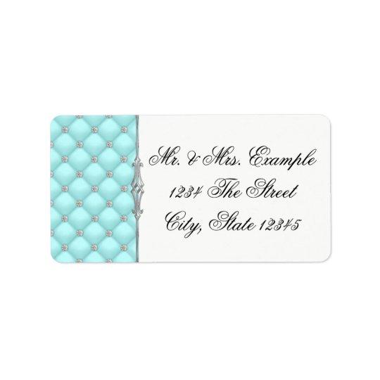 Teal Blue Address Labels