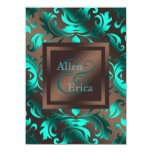 Teal Blue and Chocolate Brown Wedding